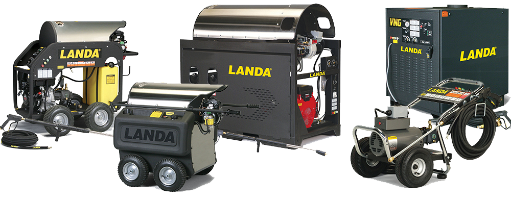 Landa has expanded it's product line, and today offers over 100 pressure washer models.