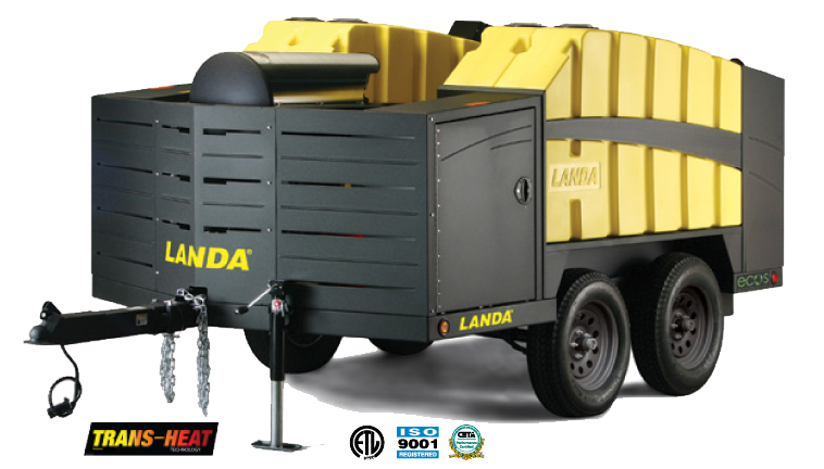Horizontal Coil available on the Landa ECOS Mobile Trailer Model