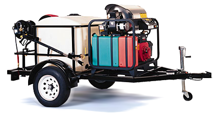 Landa TR-3500 Single-Axle Trailer-Mounted Hot Water Pressure Washer Trailer System