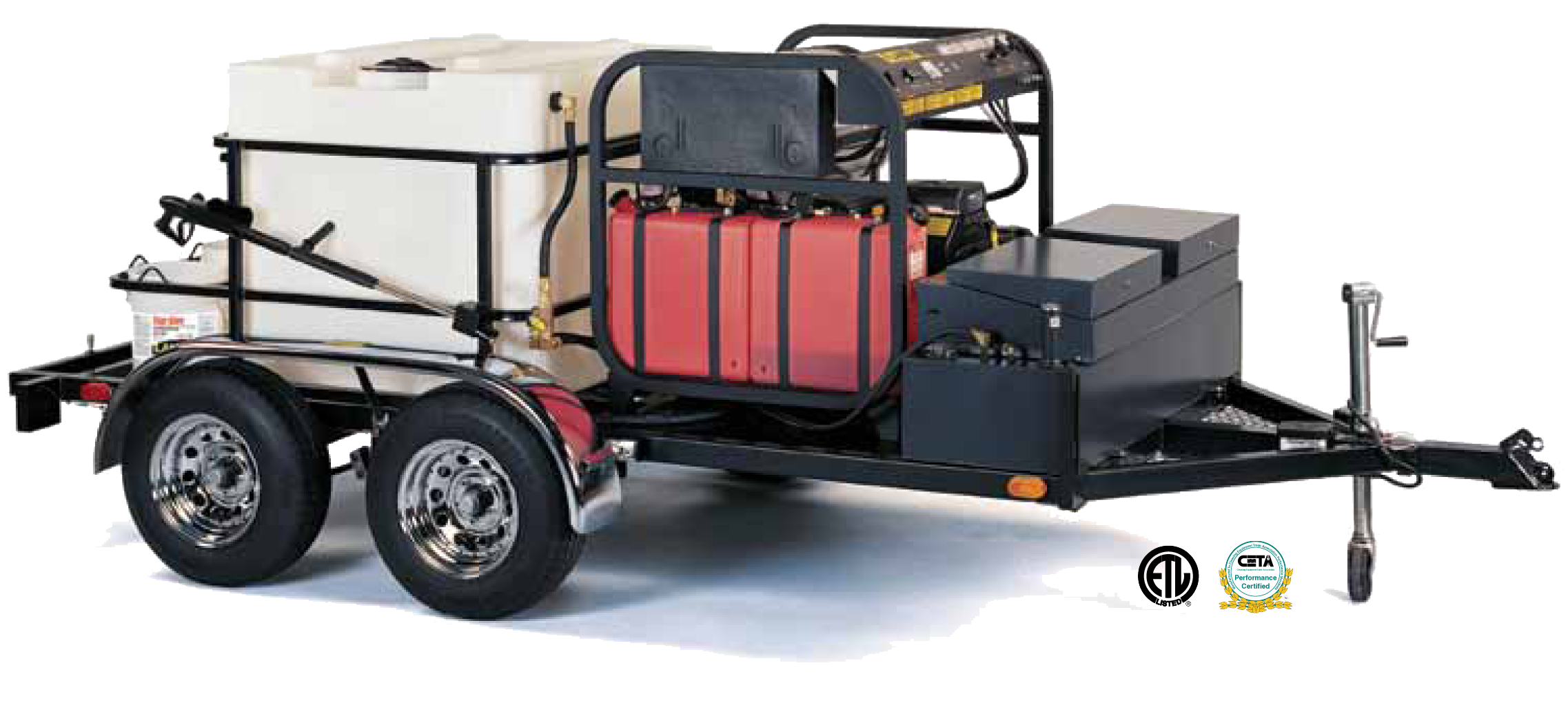 Landa TR-6000 Double-Axle Trailer-Mounted Hot Water Pressure Washer Trailer System